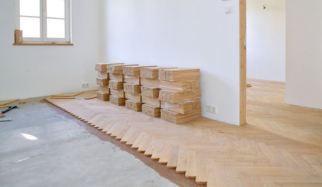 Pose de parquet collé