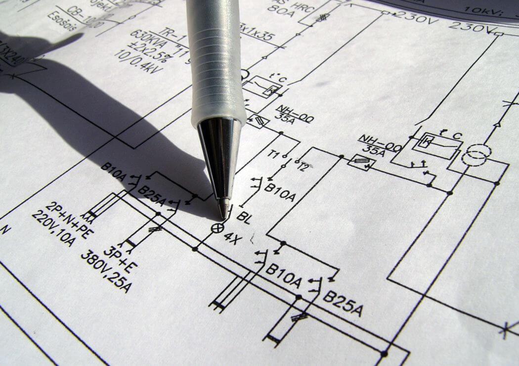 Plan d'une installation électrique
