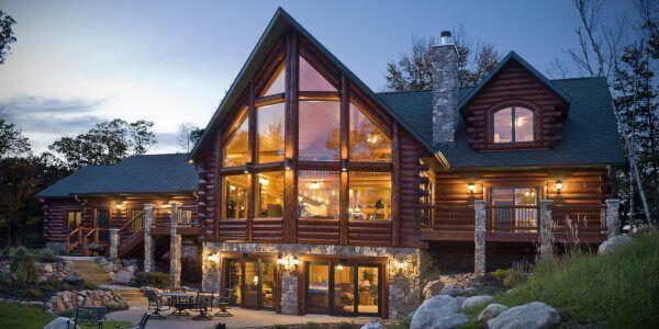 maison en bois poteaux-poutres
