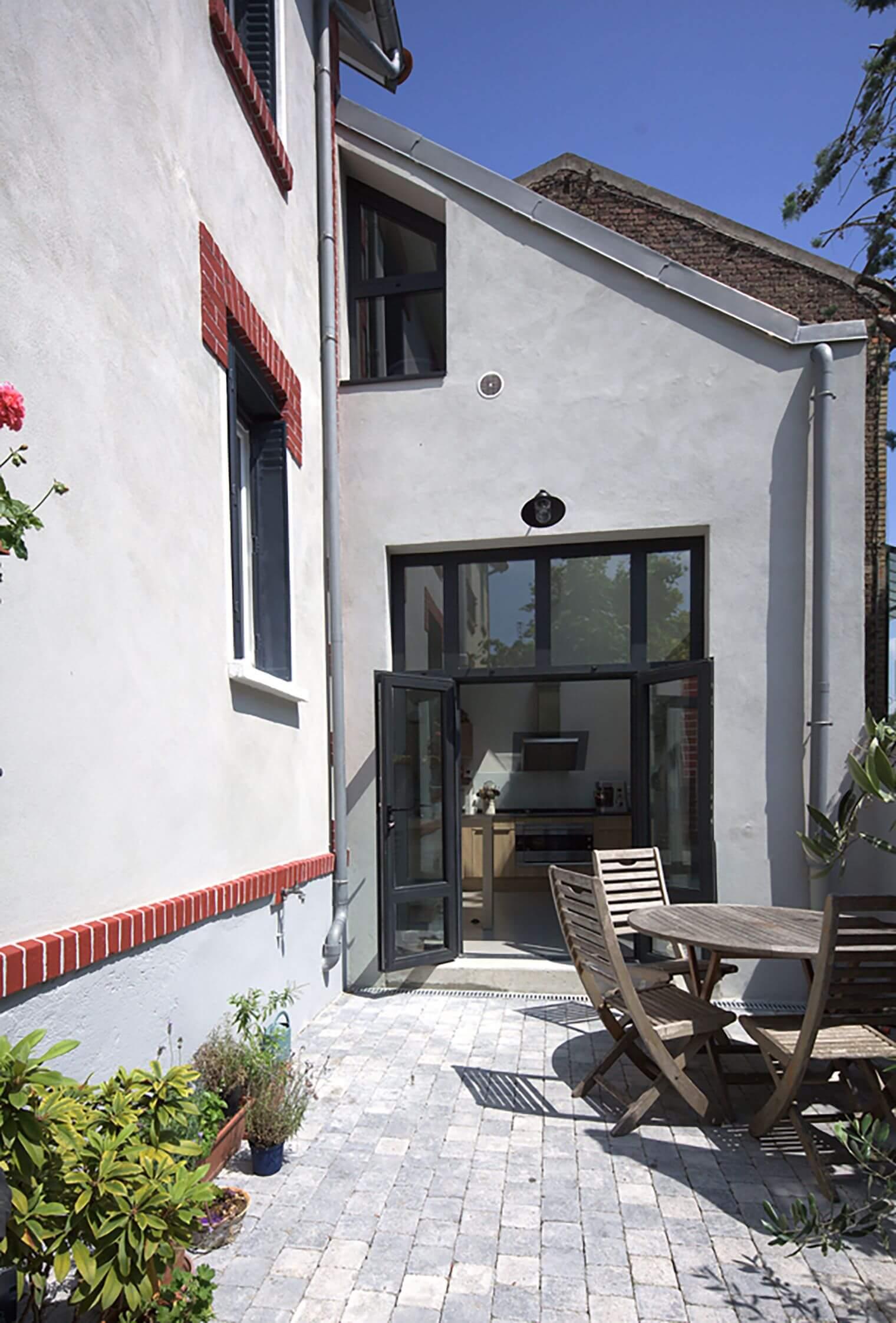 Extension contemporaine - Vue depuis terrasse