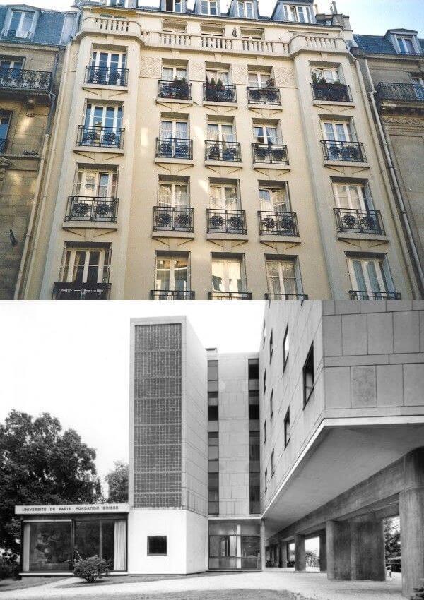 Immeuble des années 30 et architecture moderne à Paris