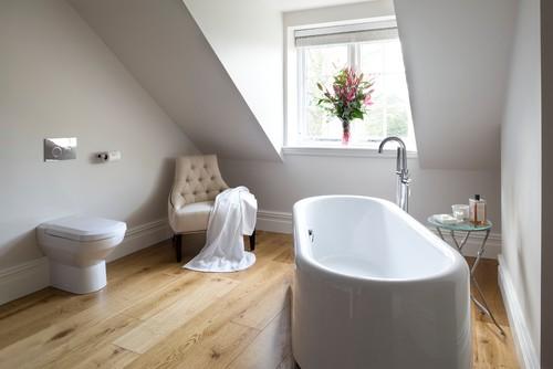 renovation salle de bain baignoire ilot sous combles