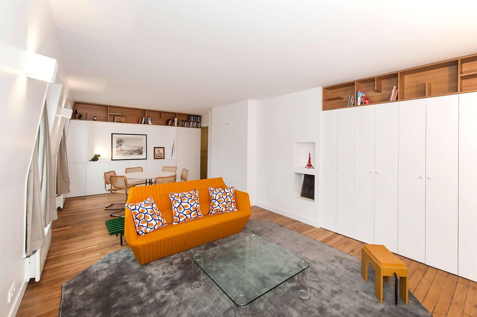 Rangements sur-mesure dans appartement rénové