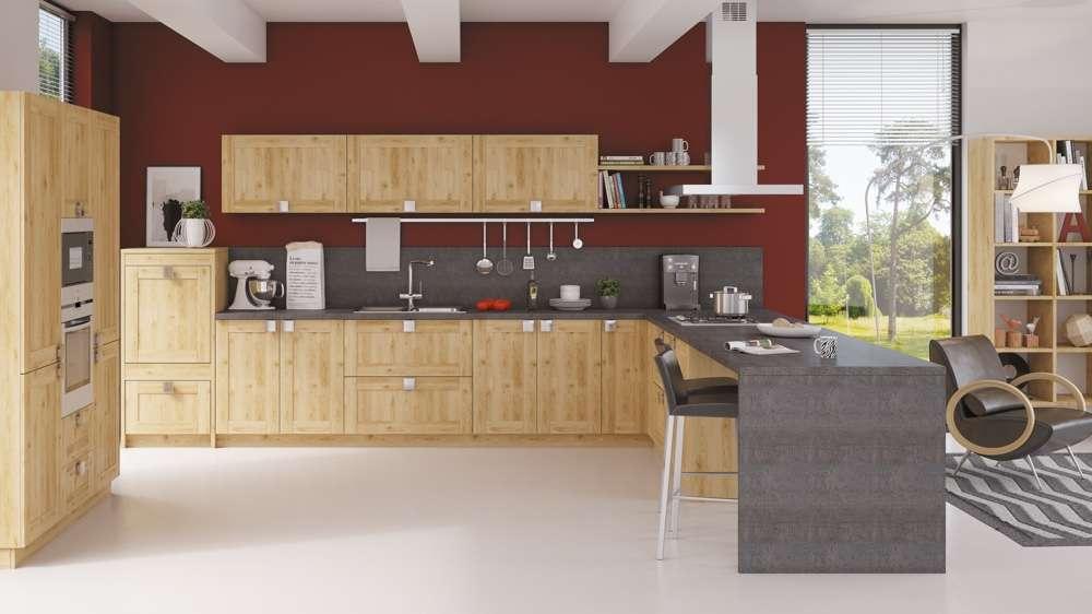 cuisine Teissa bois style rustique