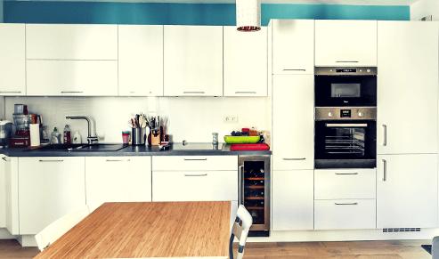 renovation cuisine equipee sol mur