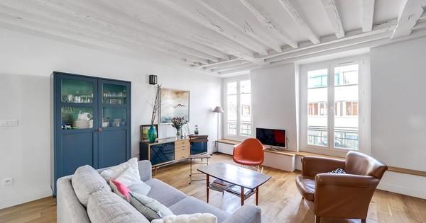 Rénovation d'un appartement à poutres apparentes
