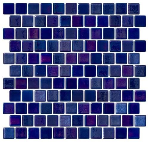 carrelage mural salle de bain mosaic bleu ecole