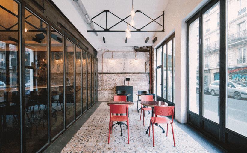 Rénovation d'un café à Paris - Terrasse couverte