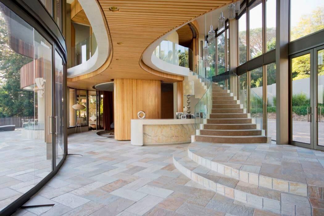 Maison d'architecte aux courbes audacieuses
