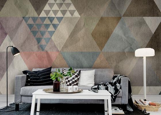 papier peint geometrique design