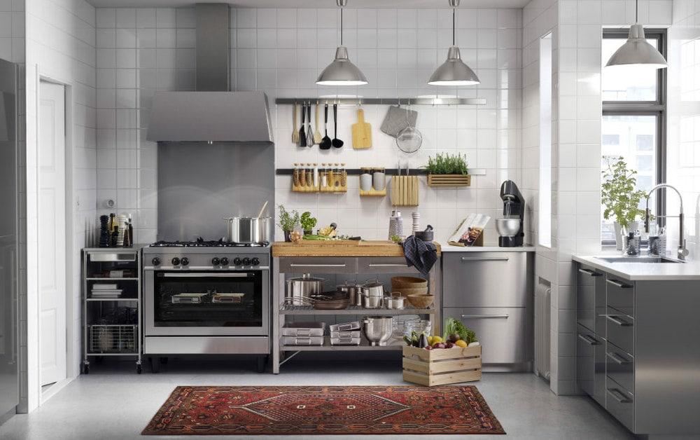 cuisine ikea contemporaine acier inoxidable