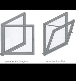 Fenêtre oscillo-battante ou fenêtre à double ouverture